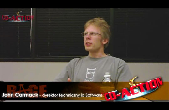 John Carmack w studiu id Software