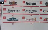 Nintendo Switch: Fortnite, Dragon Ball FighterZ, Paladins, Overcooked 2
