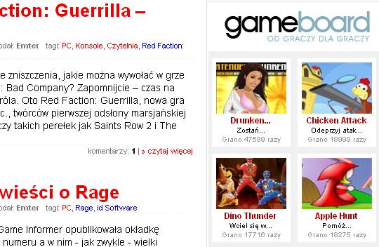 Gameboard na www.cdaction.pl